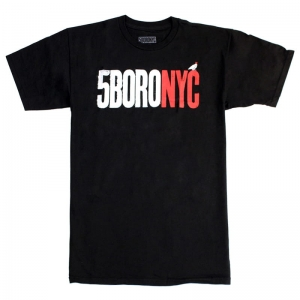 5BORO LETTERPRESS LOGO BLACK RED