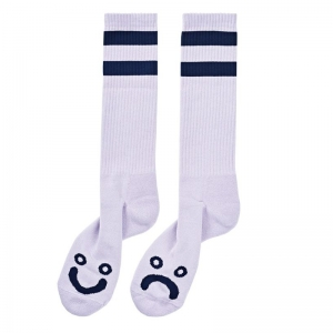 POLAR SKATE CO. HAPPY SAD SOCKS LAVENDER