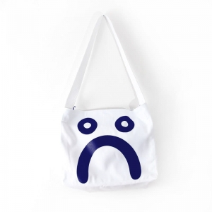 POLAR SKATE CO. HAPPY SAD TOTE BAG WHITE/NAVY