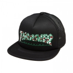 THRASHER ROSES MESH SNAP BLACK