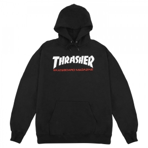 THRASHER HOOD TWO TONE SKATE MAG BLACK