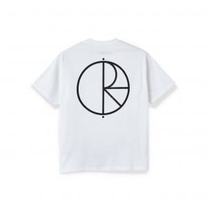 POLAR SKATE CO. STROKE LOGO WHITE