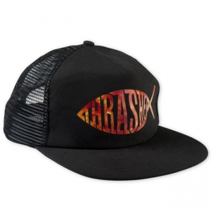 THRASHER FISH MESH SNAP BLACK