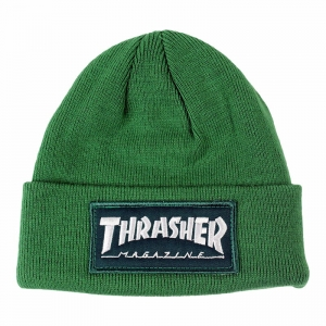 THRASHER PATCH BEANIE GREEN