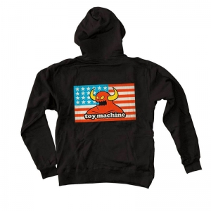 TOY MACHINE AMERICAN MONSTER ZIP HOOD BLACK