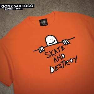 THRASHER GONZ SAD LOGO ORANGE