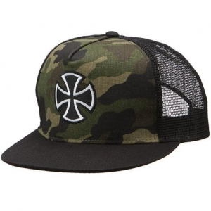 INDEPENDENT OUTLINE CROSS CAMO BLACK